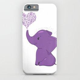 Alzheimer Awareness Month I Endalz Purple Ribbon Elephant T-Shirt iPhone Case