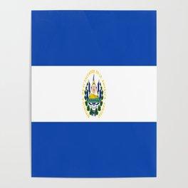 Flag of salvador - salvador,Salvadoran,San Salvador,salvadoreño,Guanaco. Poster