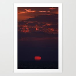 Dusk on the Atlantic Ocean Art Print