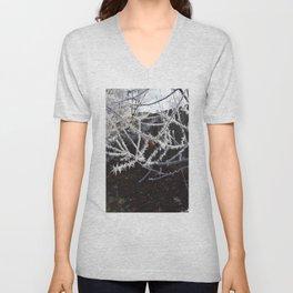 Frost Spiked Crabapple Tree Unisex V-Neck