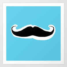 Mean-Stache Art Print