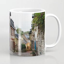 Old street in the town of Dinan at dusk Coffee Mug