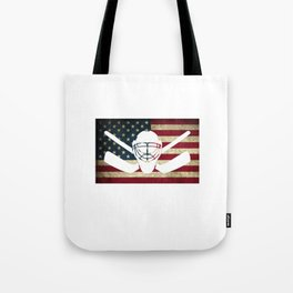 Awesome Patriotic USA Flag Hockey Tote Bag