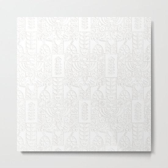 Swedish Folk Art - Subtle Metal Print