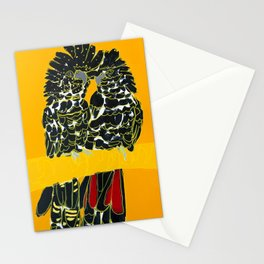 Red-tailed Black Cockatoo pair Stationery Cards