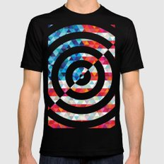 Abstract America Mens Fitted Tee MEDIUM Black
