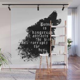 power - is dangerous wolf illustration Wall Mural