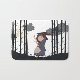 Witch girl forest Bath Mat