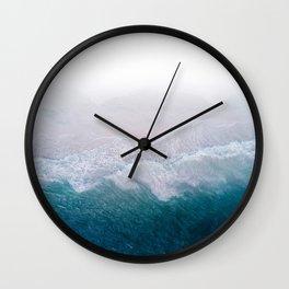 BLUE BEACH BREAK Wall Clock
