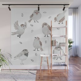 Sparrows Wall Mural