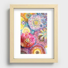 Flowered Table Recessed Framed Print