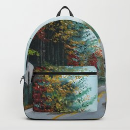 Turkey Crossing Autumn Trees Art Backpack