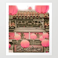 Los Angeles - Chinatown Sign Art Print