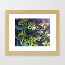 Tropical Greenery Framed Art Print