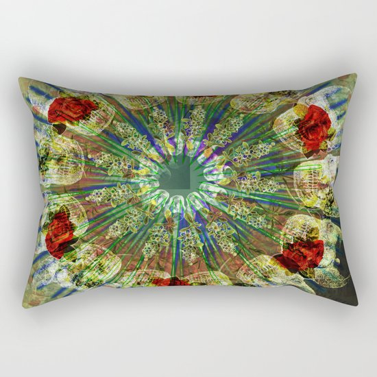 Skull Mandala Rectangular Pillow