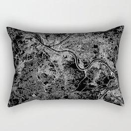 Pittsburgh Black Map Rectangular Pillow
