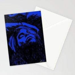 Midnight Blue Girl Stationery Cards