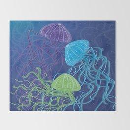 Ethereal Jellies Throw Blanket