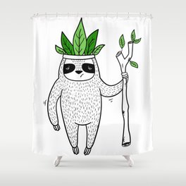 King of Sloth Shower Curtain