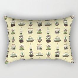 Terrarium pattern (yellow) Rectangular Pillow