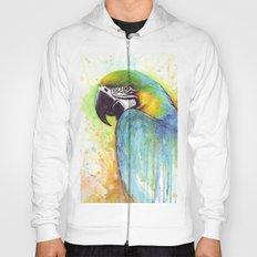Bird Watercolor Animal Macaw Hoody