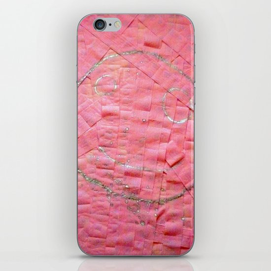 Smile on a pink toilet paper iPhone & iPod Skin