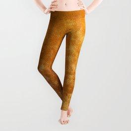 Gold colour velvet fabric background texture Leggings