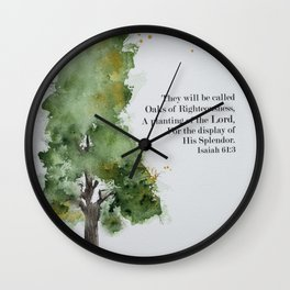 Oaks of Righteousness Wall Clock