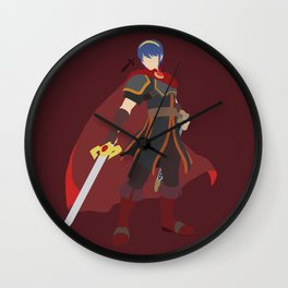 Marth(Smash)Red Wall Clock