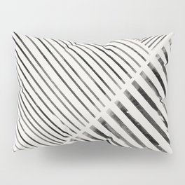 Black and White Stripes, Abstract Pillow Sham