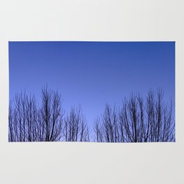 Blue hour twin trees Rug