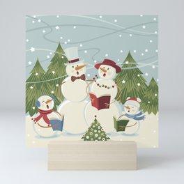 Christmas Song / Snowmen Mini Art Print