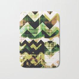 graphic design art, abstract geometric print, abstract wall art, chevron, chevron abstract Bath Mat