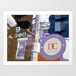 Capitol Hill - Washington, DC -  historic sign street art - DC photography Art Print