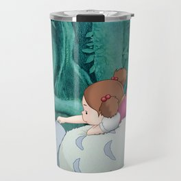 Mei on Totoro's Fluffy Tummy Travel Mug
