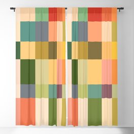 Vintage Checkered Pattern Blackout Curtain