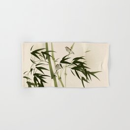 Oriental style painting, bamboo branches Hand & Bath Towel
