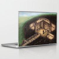 tomb raider Laptop & iPad Skins featuring Maeshowe Tomb by Rushelle Kucala Art