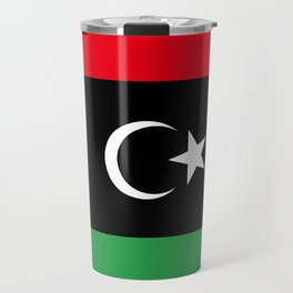 Official flag of the state of Libya, Authentic version to scale and color Travel Mug