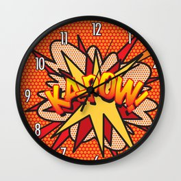 Comic Book KA-POW! Wall Clock