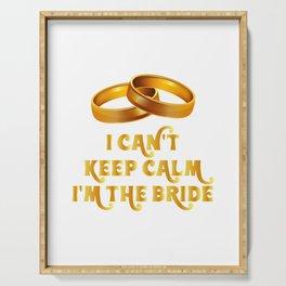 Bride Funny - I'm The Bride Serving Tray