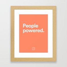 People Powered Framed Art Print