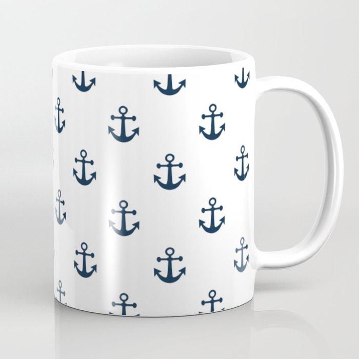 Navy Anchors Coffee Mug