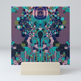 "Gustav Klimt ""Textile design - Model 2"" edited (1) Mini Art Print"