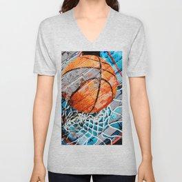 Modern basketball art 3 Unisex V-Neck