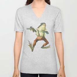 My First Duel: The Frog Unisex V-Neck