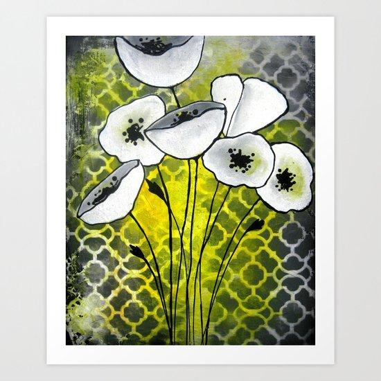 White Flowers I Art Print