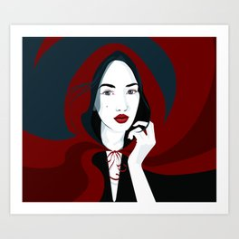 Great Red Riding Hood Art Print