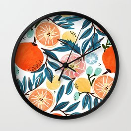 Fruit Shower Wall Clock