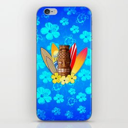 Surfboards And Tiki Mask iPhone Skin